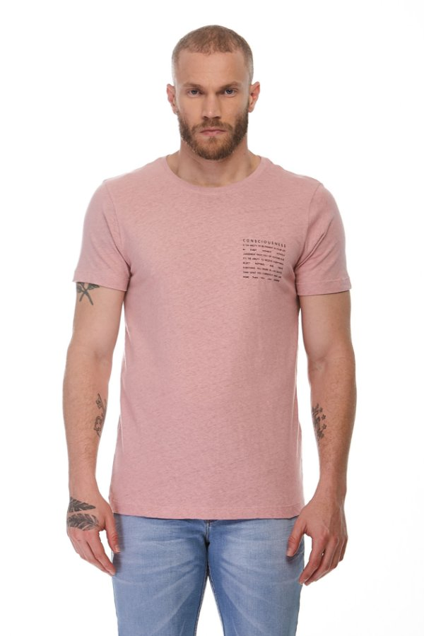 Camiseta Eco Consciousness Rosa