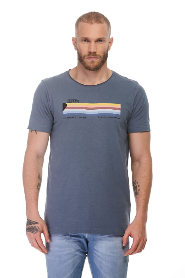 Camiseta Slow Down Azul