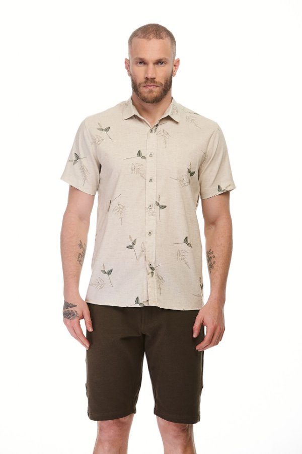 Camisa Social Mc Lavanda Nude