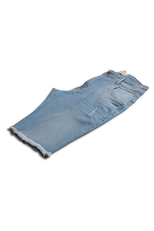 Bermuda Jeans Destroyed Light