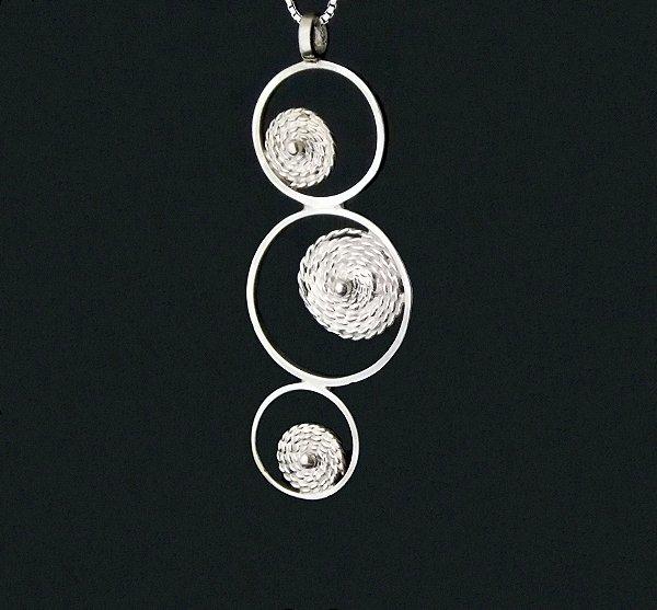 Pingente Círculos em Prata