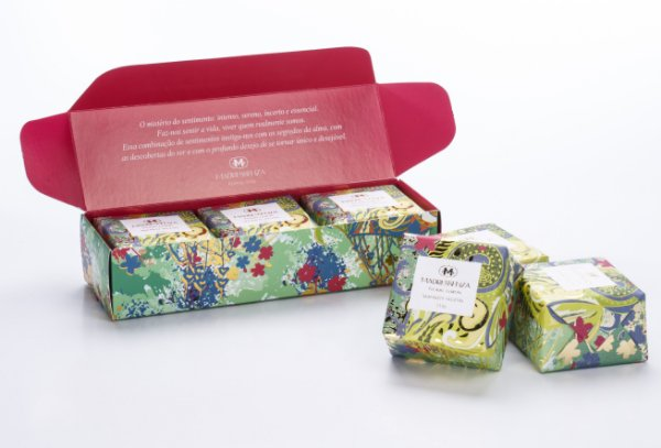 Estojo sabonetes Floral Lemon - 3 un. 115g cada