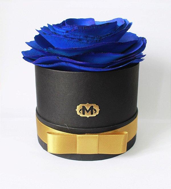 Flor na caixa redonda - AZUL