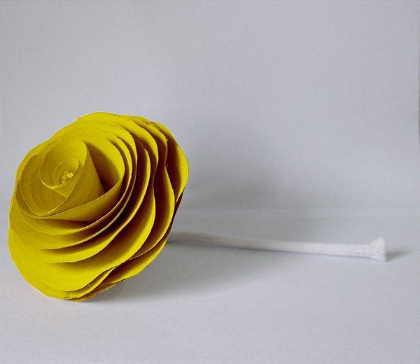 Flor com cordão para difusor - AMARELA