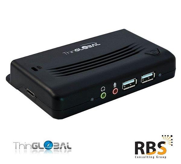 Minipoint Ethernet 4 portas USB com fonte de alimentação