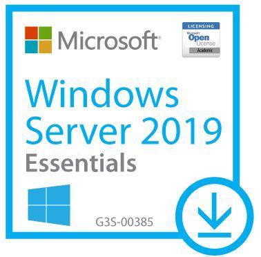 Windows Server Essentials 2019 Acadêmico - WinSvrEssntls SNGL LicSAPk OLP NL Acdmc