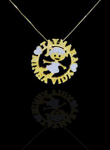 Colar com nome modelo mandala personalizada até 3 nomes folheado a ouro 18k