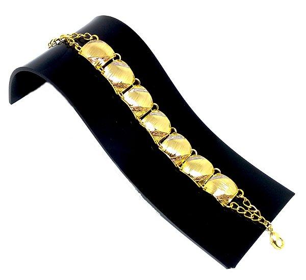 Pulseira feminina bracelete Miami folheado a Ouro 18k