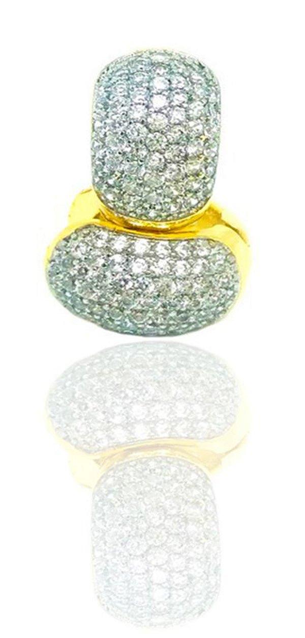 Brinco argola folheado a ouro 18k microcravejada em zirconias cristais
