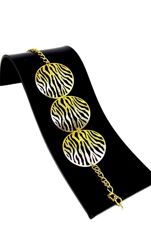 Pulseira feminina bracelete folheada a Ouro 18k