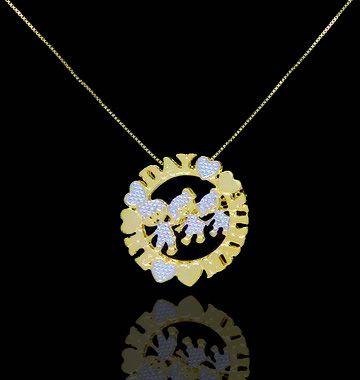 Colar Mandala com nome com até 3 nomes coleção corações folheado a Ouro 18k