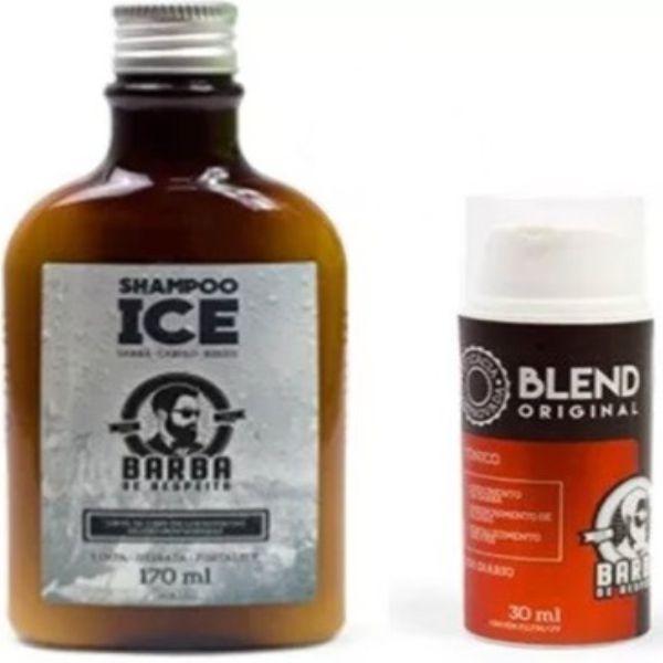 Blend Barba De Respeito 30ml + Shampoo Ice Barba de Respeito - 170ml