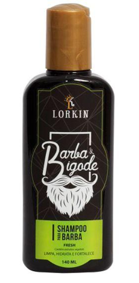 Shampoo para barba e bigode Lorkin - 140ML