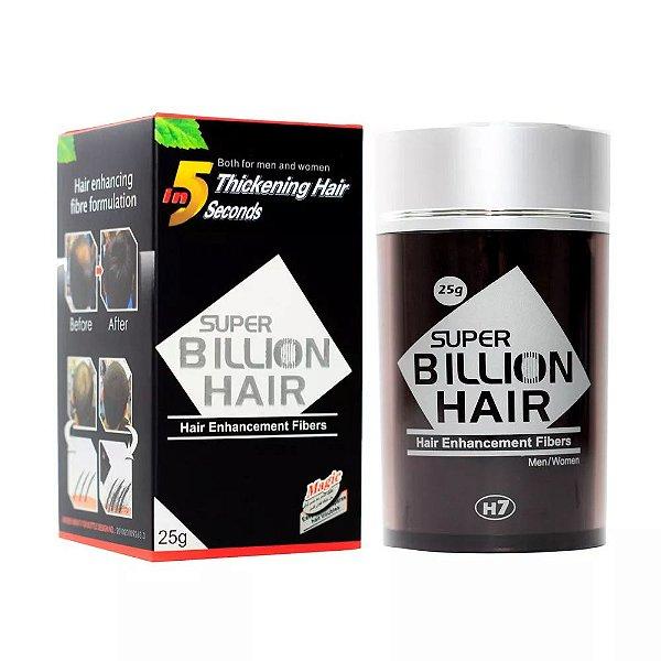 Super Billion Hair - Fibra 25g (Castanho Escuro)