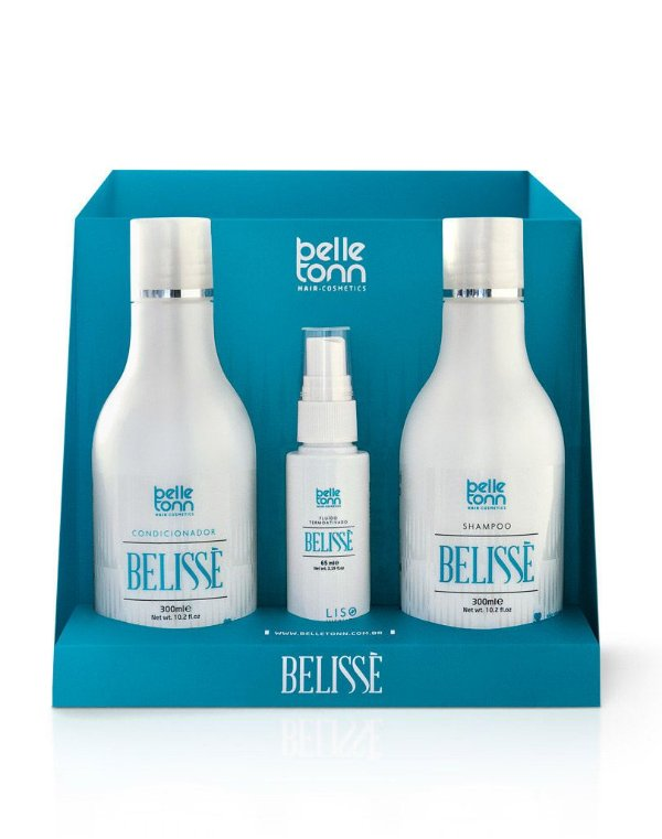 Fluido Belisse Belle Tonn 65ml + Shampoo + Condicionador