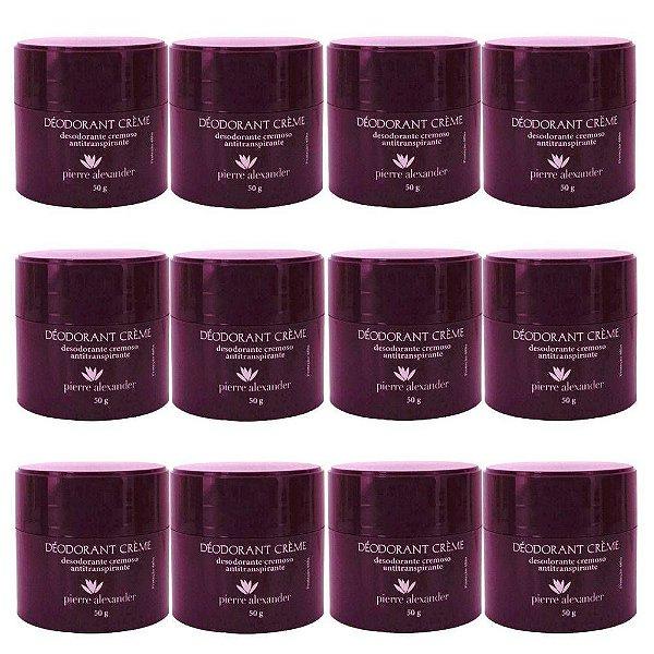 Desodorante em Creme Pierre Alexander 50g 12 Und