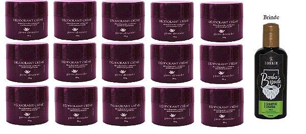 KIT 15 Und Desodorante Pierre Alexander Creme Antitranspirante + Shampoo Lorkin