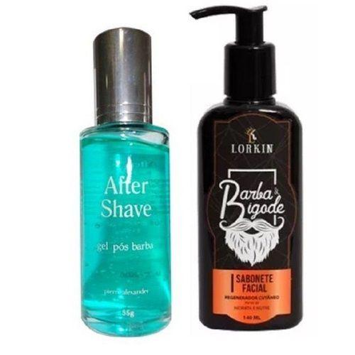 Kit After Shave Gel Após Barba 55g - Pierre Alexander e Sabonete Facial Lorkin - 140ML