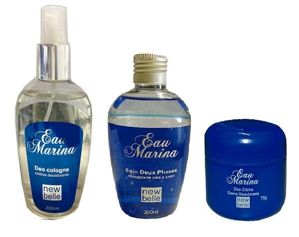 Kit Eau Marina - Deo Colônia , Desodorante e Óleo Bain Deux Phases
