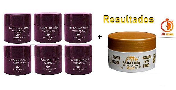 KIT 6 Und Desodorante Pierre Alexander Creme Antitranspirante + Parafina Lorkin