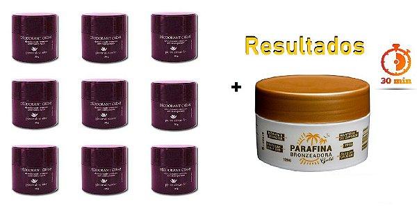 KIT 9 Und Desodorante Pierre Alexander Creme Antitranspirante + Parafina Lorkin