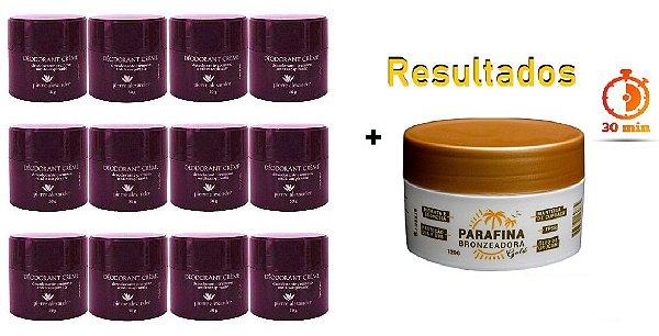 KIT 12 Und Desodorante Pierre Alexander Creme Antitranspirante + Parafina Lorkin