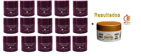 KIT 15 Und Desodorante Pierre Alexander Creme Antitranspirante + Parafina Lorkin