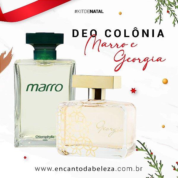Kit Deo Colônia Marro + Deo Colônia Georgia VS2 - 100ml (cada) - Chlorophylla