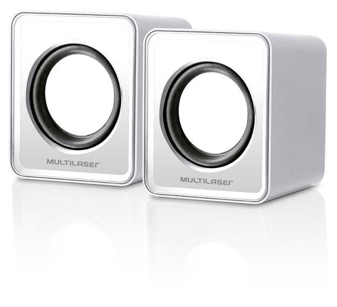 Caixa de Som Multilaser Sp108 Gelo, 4w Rms, Entrada USB, Plugue Padrão de 3.5mm