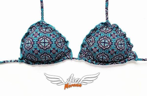 e2a979c8cd91e0 Biquini Ripple FRUFRU Azul Mandalas- Sutiã