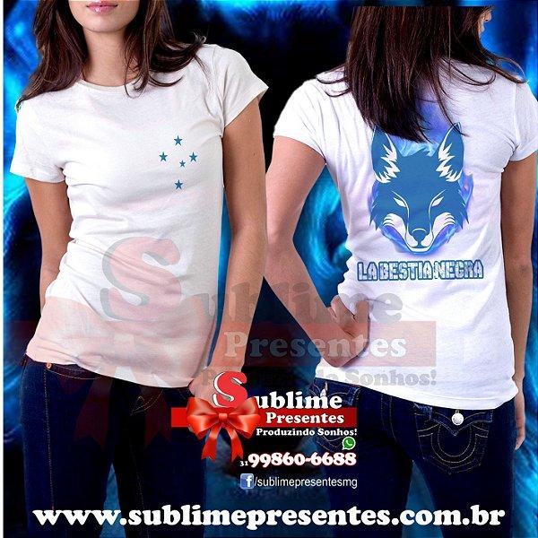 Camisa Cruzeiro La Bestia Negra - Sublime Presentes - Produzindo Sonhos f7c865ec9ca40