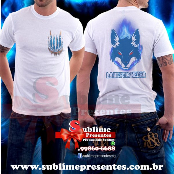 Camisa Cruzeiro La bestia Negra - Sublime Presentes - Produzindo Sonhos 902b9612a3f63