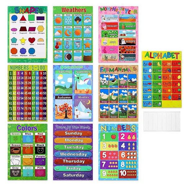 Kit Completo - 10 Pôsteres Educacionais [Frete grátis]