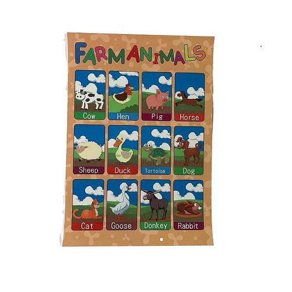 Pôster Animais da Fazenda - Farm Animals