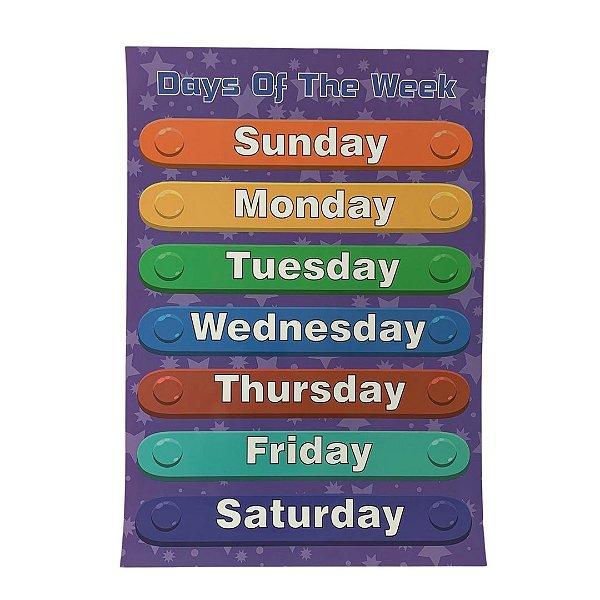 Pôster Dias da Semana - Days of the week