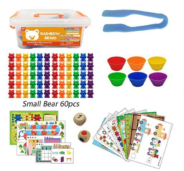 Kit Rainbow Counting Bears - 84 peças