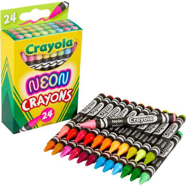 Neon Giz De Cera Crayola 24 Cores