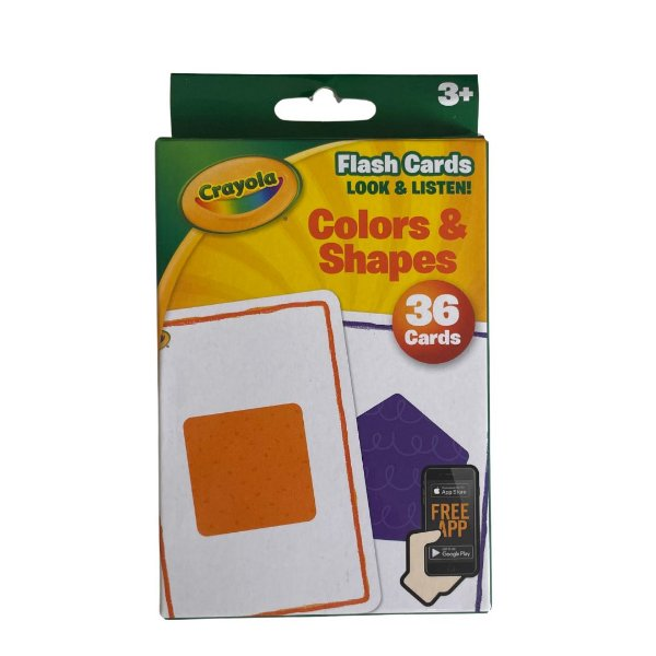 36 Flash Cards -  Colors & Shapes