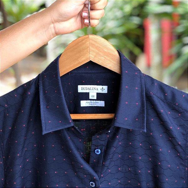 Camisa Feminina Dudalina Azul - N 44