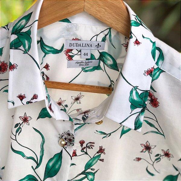 Camisa Feminina Dudalina Estampa Floral - N 44