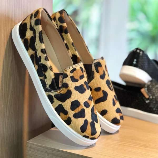 Tênis Slip On Anacapri Animal Print