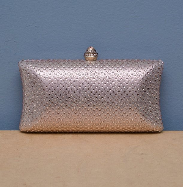 Bolsa Clutch Rose com Strass