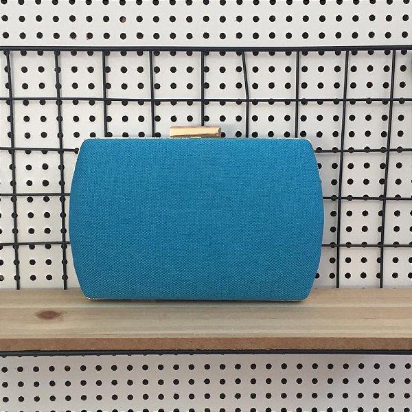 Bolsa Clutch Azul Ovalada