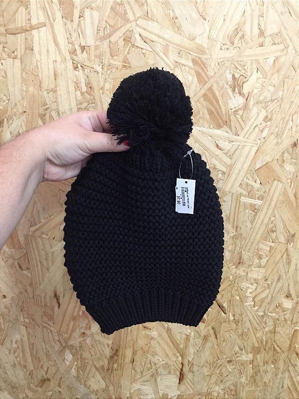 Gorro tricô preto
