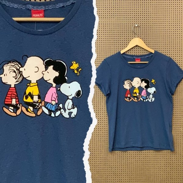 T-shirt Angel Peanuts Azul
