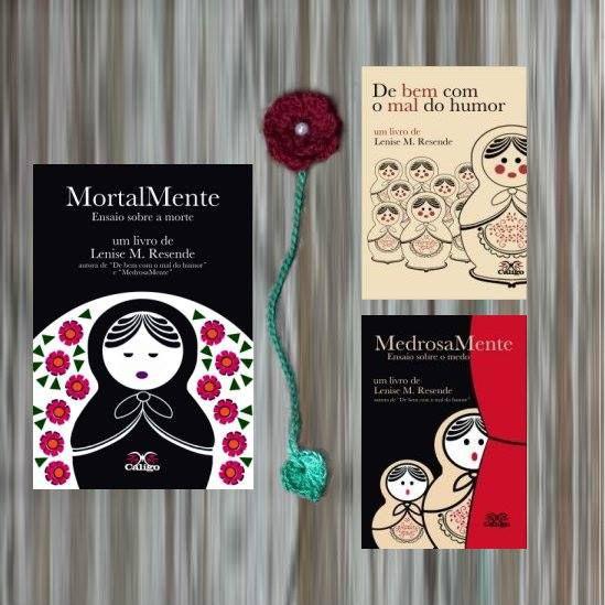 Combo da Série Matrioskas - Livros de Lenise M. Resende - 3 livros + marcador flor de crochê