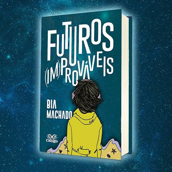"""Kit de lançamento do livro """"Futuros (Im)Prováveis"""" - de Bia Machado (livro + brindes)"""