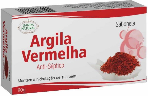 Sabonete Natural Argila Vermelha 90g