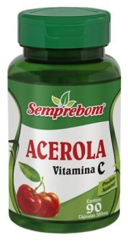Acerola Vitamina C 90 cáps 500mg
