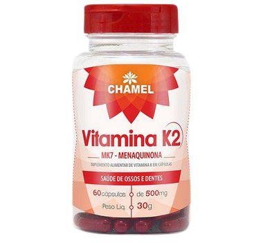 Vitamina K2 MK7 Menaquinona 60 Cáps 500mg